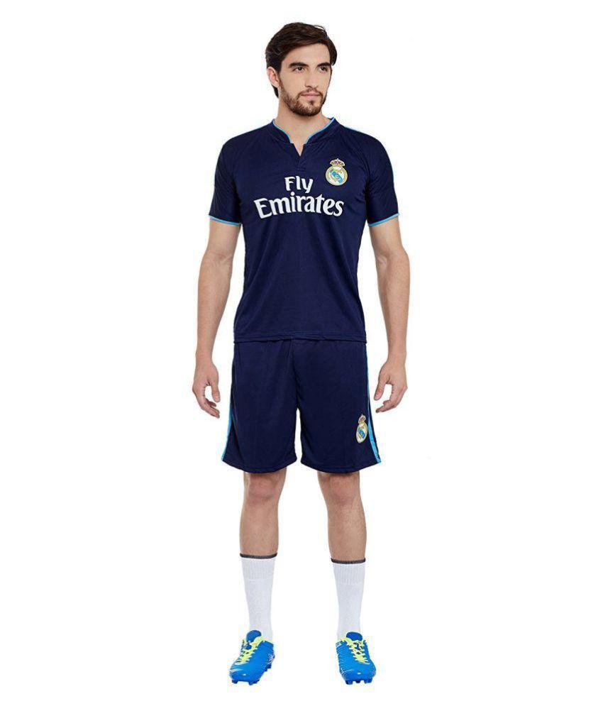 Sportigo Solid Men V neck Blue, Light Blue T Shirt