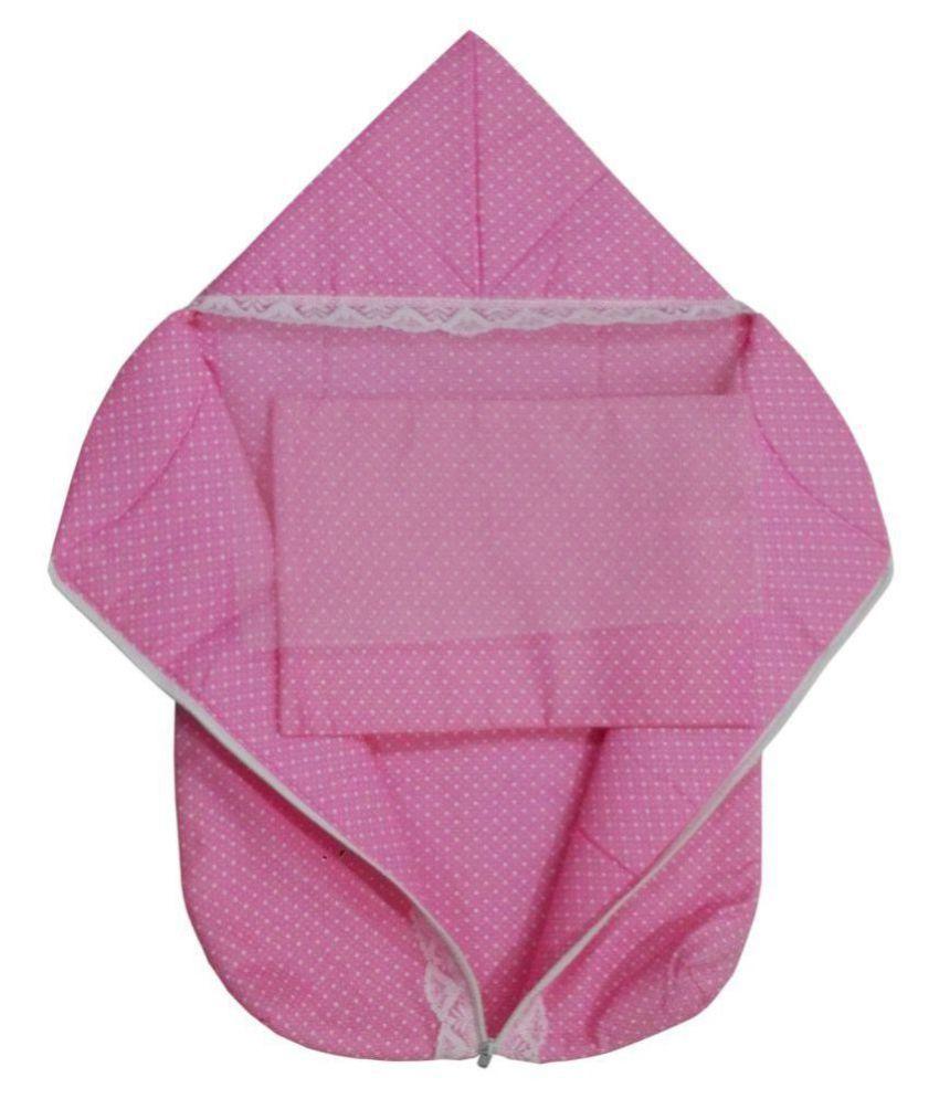 Baby Comforts Pink Cotton Sleeping Bags ( 74 cm × 42 cm)