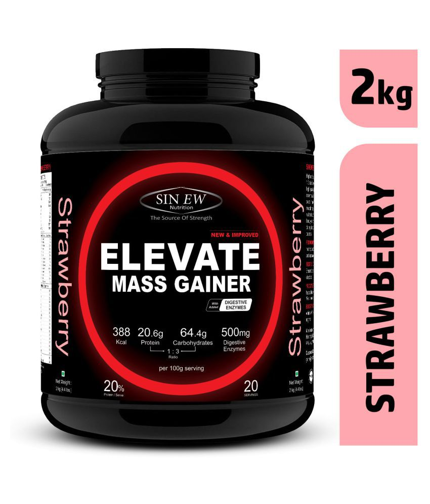 Sinew Nutrition Elevate Mass gainer with Digestive Enzymes 2 kg Mass Gainer Powder