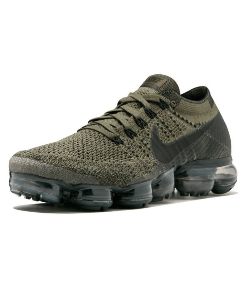 ade9f31e69 Nike AIR VAPORMAX FLYKNIT Green Running Shoes - Buy Nike AIR VAPORMAX  FLYKNIT Green Running Shoes Online at Best Prices in India on Snapdeal