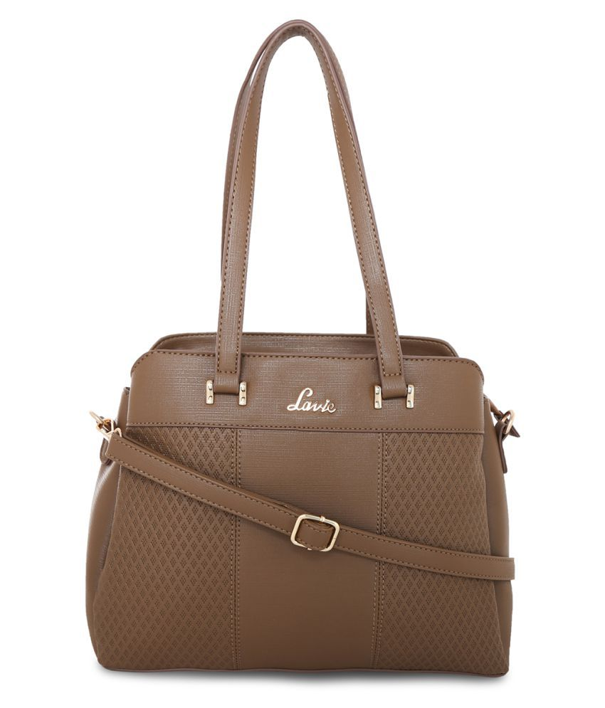 0a14dc32b4 Lavie Brown Faux Leather Satchel Bag - Buy Lavie Brown Faux Leather Satchel  Bag Online at Best Prices in India on Snapdeal