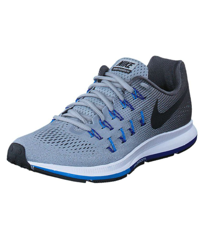 e97587c5c55 Nike Zoom 33 Grey Running Shoes - Buy Nike Zoom 33 Grey Running Shoes Online  at Best Prices in India on Snapdeal