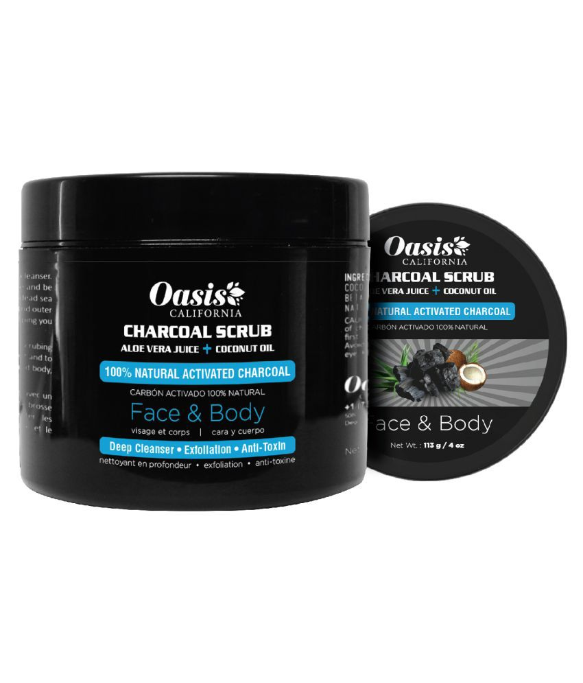 a5e5148d23e29 Oasis CALIFORNIA Activated Charcoal Face Scrub For Man & Woman With Skin  Whitening Scrub & Exfoliators 113 gm: Buy Oasis CALIFORNIA Activated  Charcoal Face ...