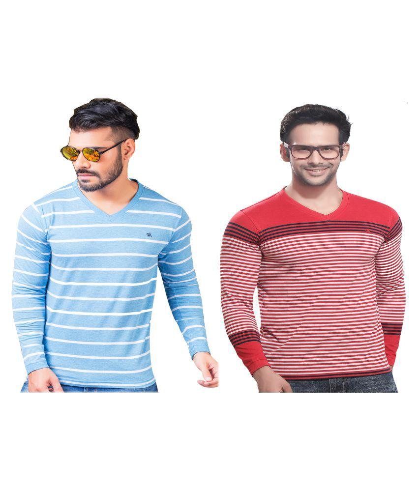 KUNDAN SULZ GWALIOR Pink Full Sleeve T-Shirt Pack of 2