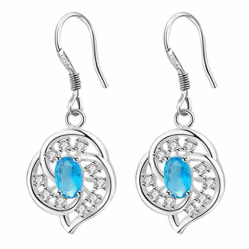 Kamalife Fashion Red Bling Bling Diamond 1 Pair Earings Jewellery