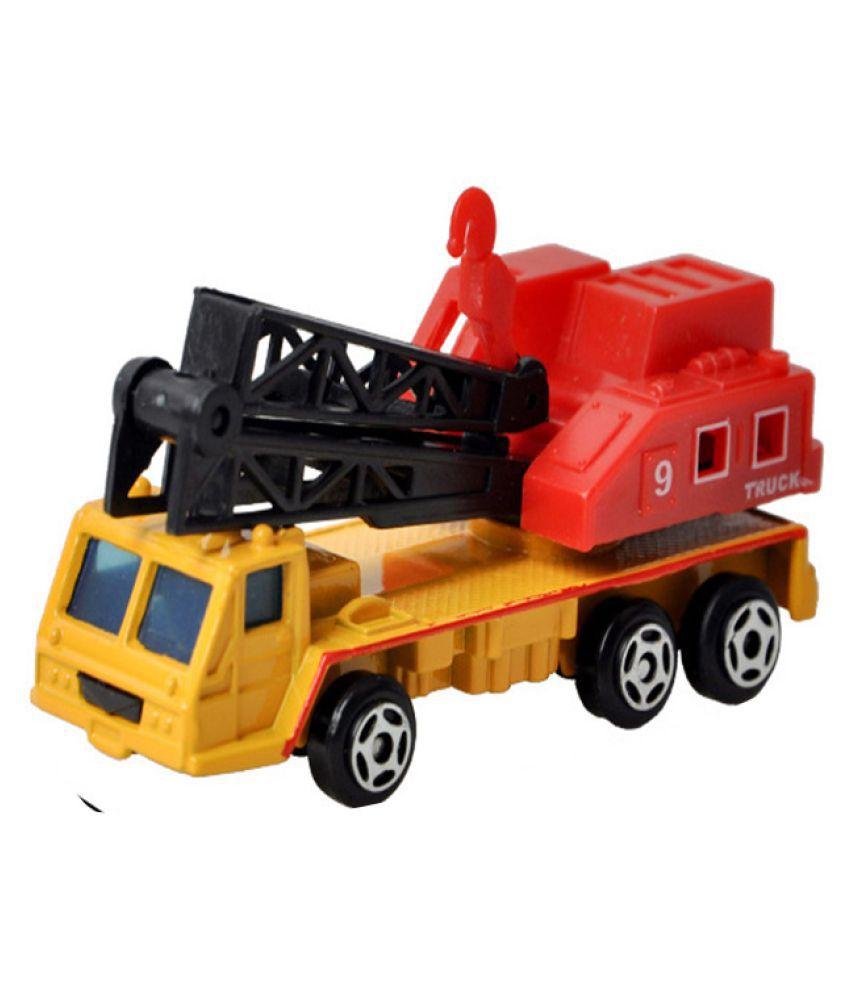 Kamalife Yellow Engineering Crane 1 Pc Alloy Toy Car Simulation
