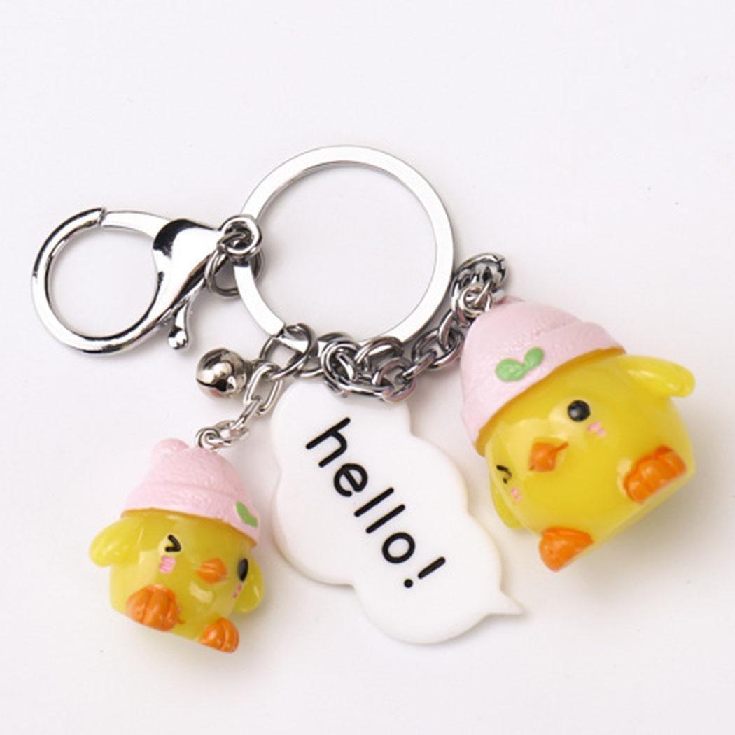 Men Women Cartoon Rabbit Animal Bell Key Chain Key Ring Charm Car Bag Pendant