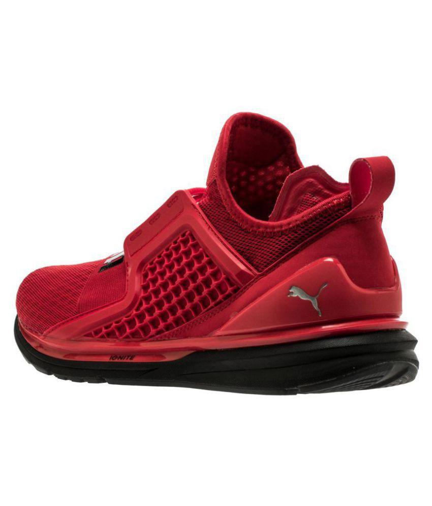 5f6a4d313a7c Puma IGNITE LIMITLESS Red Running Shoes Puma IGNITE LIMITLESS Red Running  Shoes ...