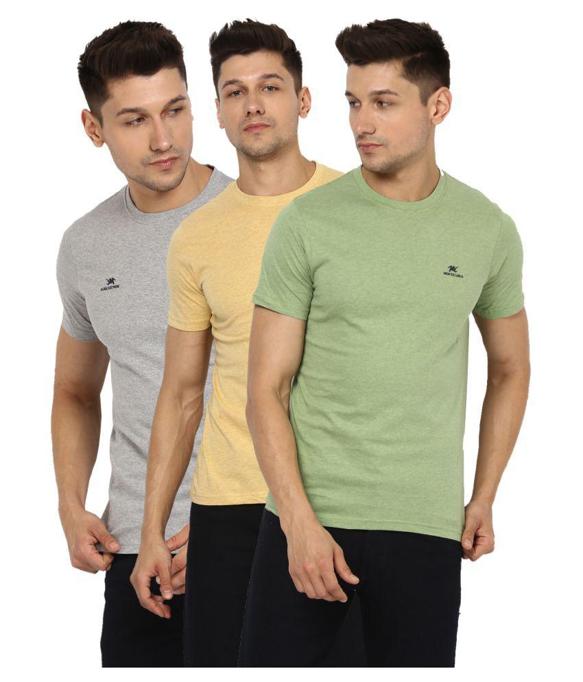 Monte Carlo Multi Half Sleeve T-Shirt Pack of 3