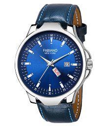 Fabiano New York FNY115 Leather Analog Men's Watch