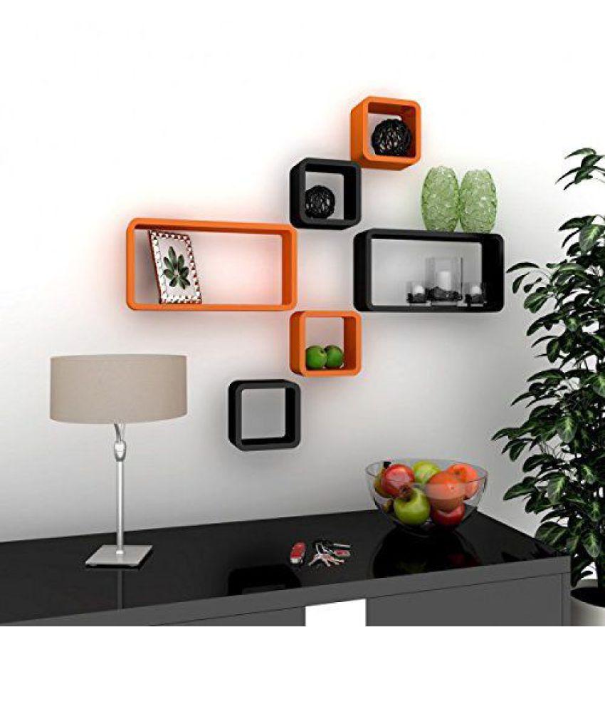 Sunshine Floating Shelves Multicolour MDF - Pack of 1