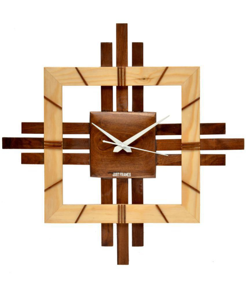 Just Frames Assymetric Analog Wall Clock 51 X 4 Cms Buy Just