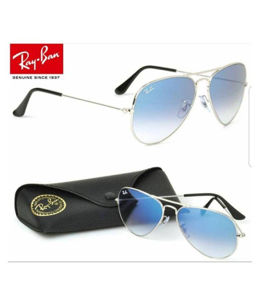 JINNY FASHION Blue Aviator Sunglasses ( SUN_321 )