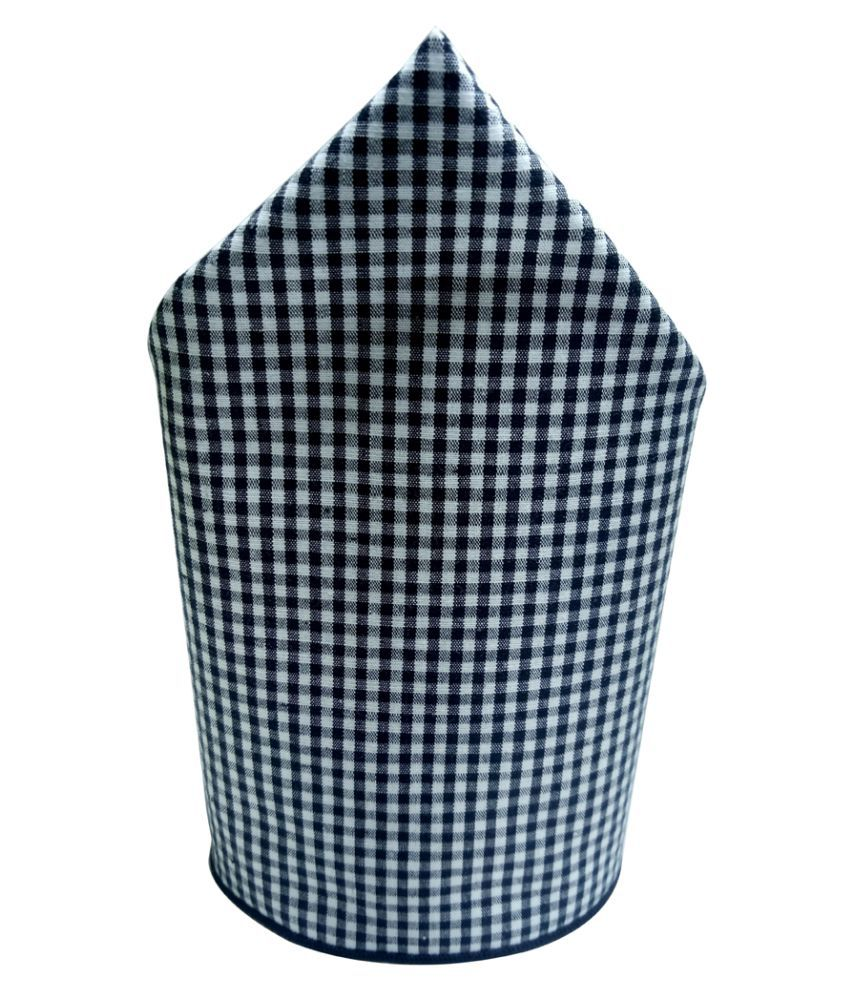 Mentiezi Cotton Black & White Color Pocket Square