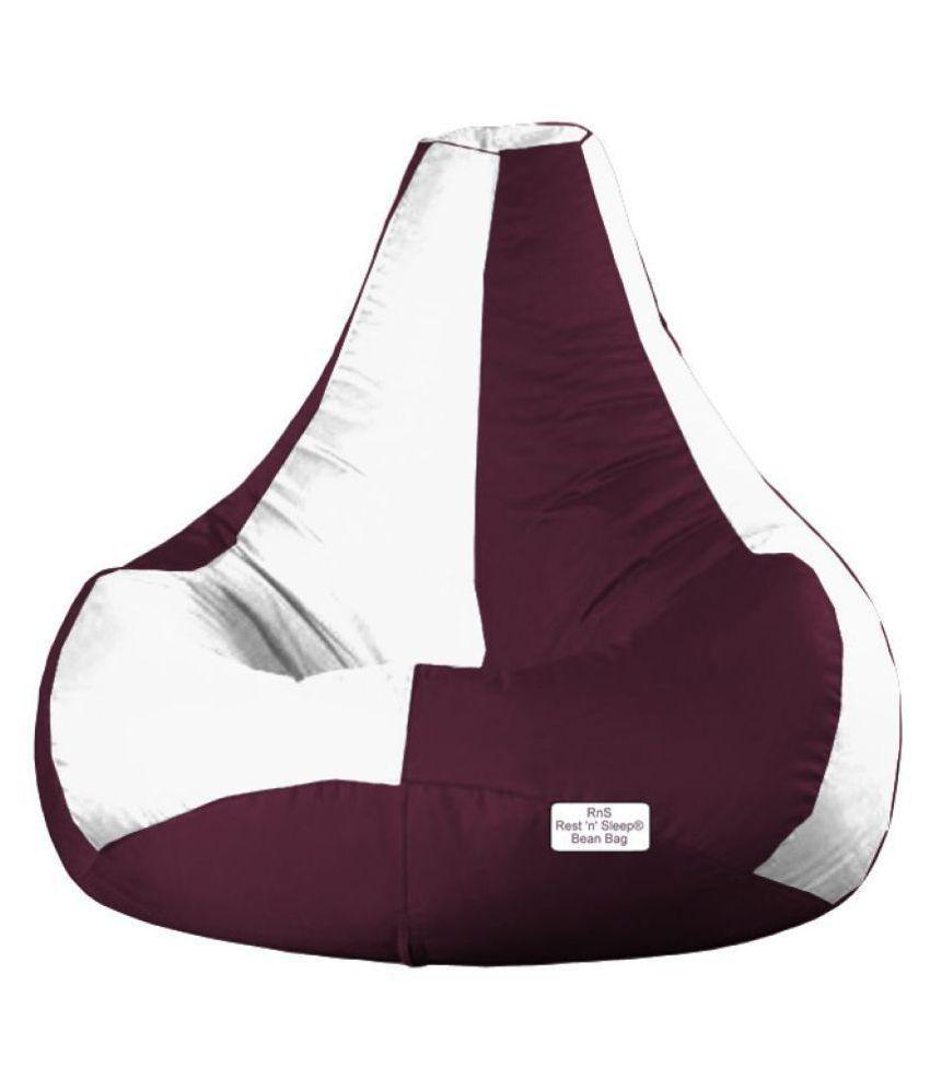 Amazing Restnsleep Xxxl Bean Bag Filled Teardrop Bean Bag Chair With Beans Filler White Cherry Machost Co Dining Chair Design Ideas Machostcouk