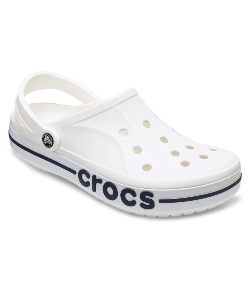 50bdd0652f9c3 Crocs Bayabanda White Croslite Floater Sandals - Buy Crocs Bayabanda White  Croslite Floater Sandals Online at Best Prices in India on Snapdeal