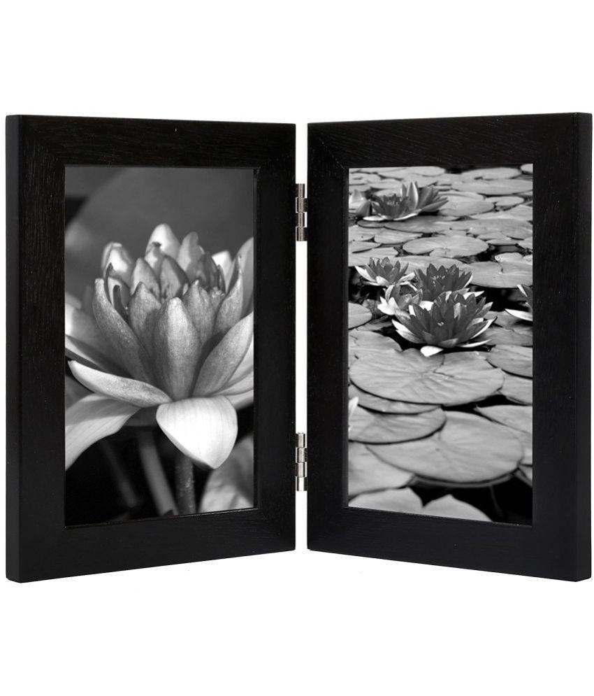MAGIC GIFT Wood TableTop Black Photo Frame Sets - Pack of 1