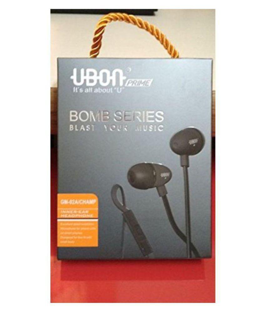 UBON GM-02A In Ear Wired Earphones With Mic - Buy UBON GM-02A In Ear ...