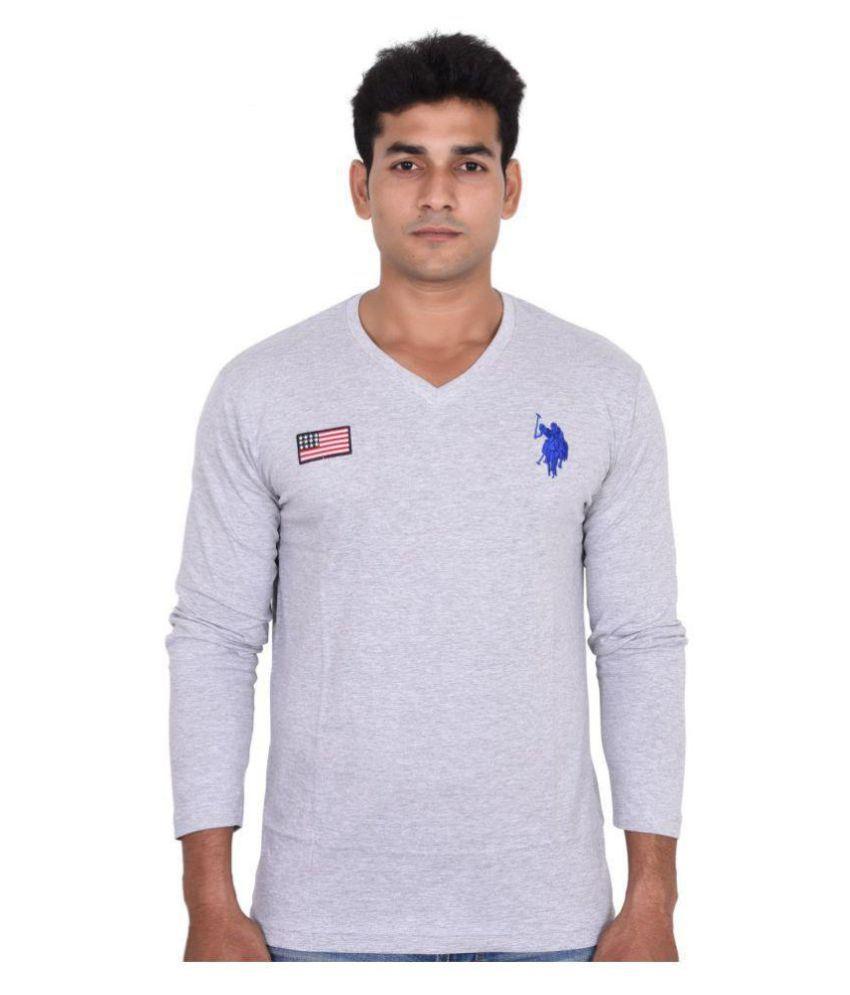 U.S. Polo Assn. Grey Full Sleeve T-Shirt