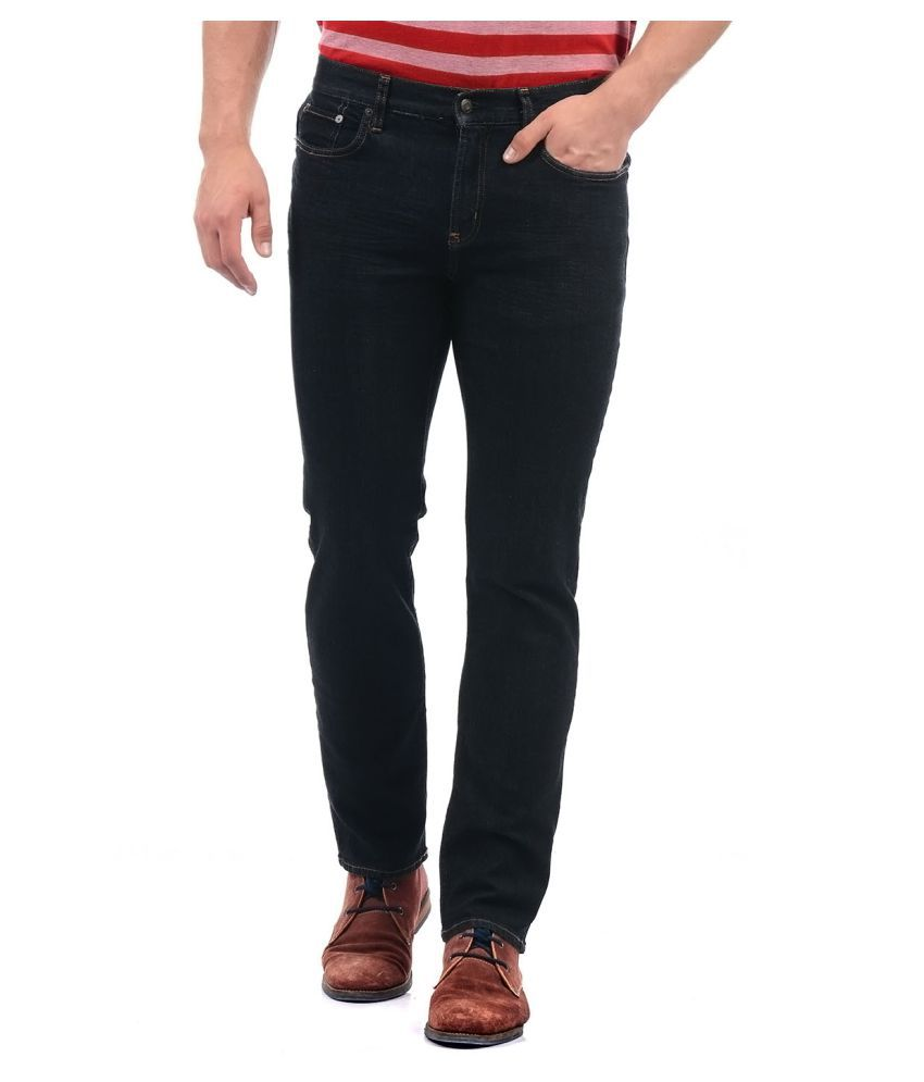 Aeropostale Navy Blue Regular Fit Jeans
