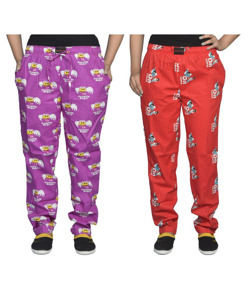 Flamboyant Cotton Pajamas - Multi Color