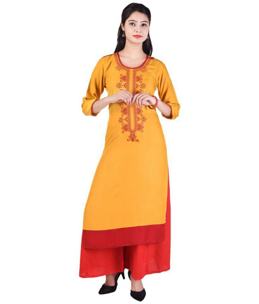 Lipsa Yellow Cotton Straight Stitched Suit