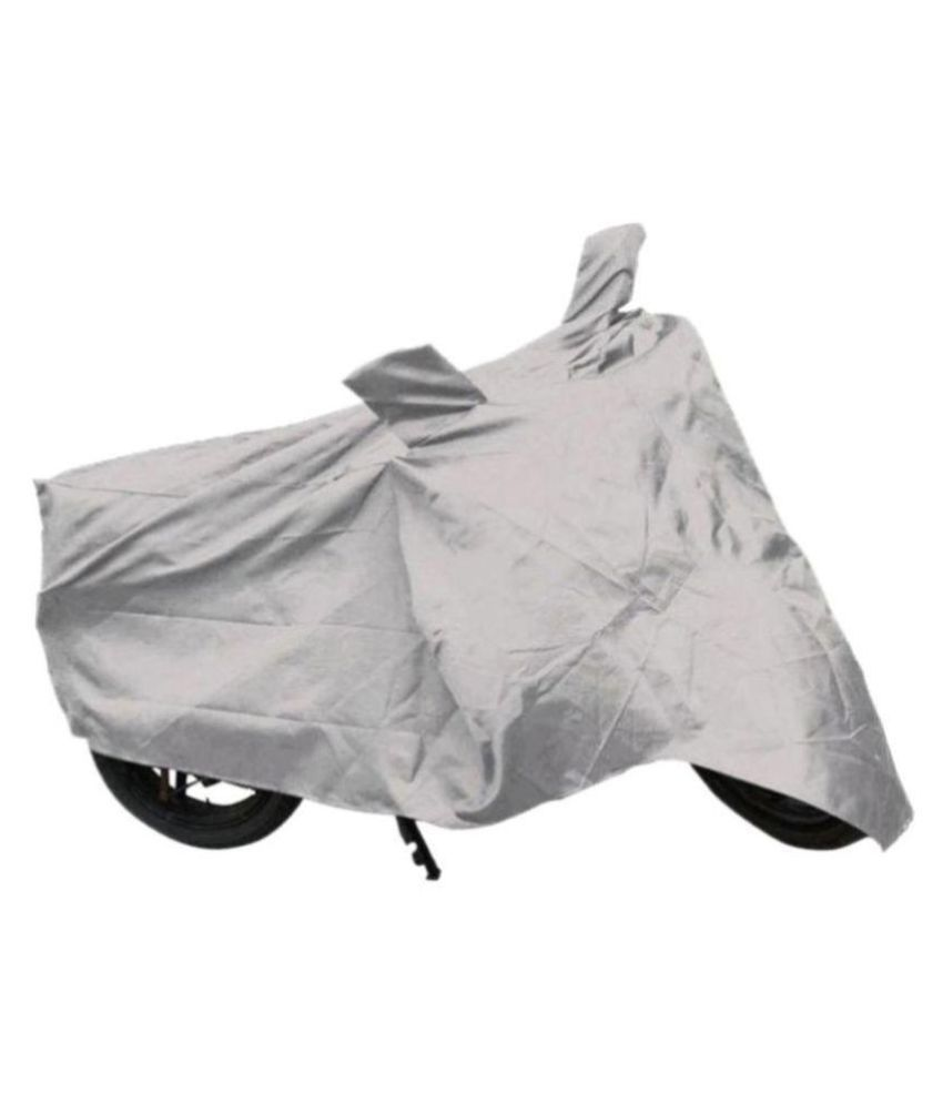 Ek Retail Shop Silver Matty Waterproof Bike Body Cover for Honda Aviator