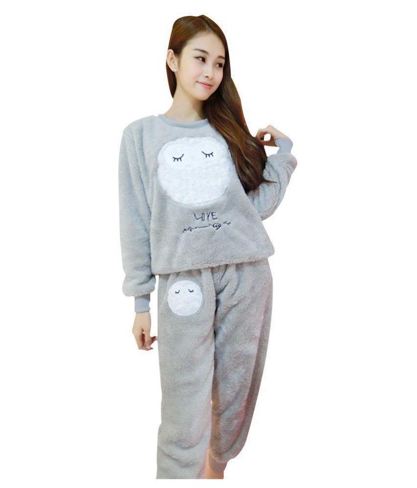 Generic Velvet Pajamas - Beige