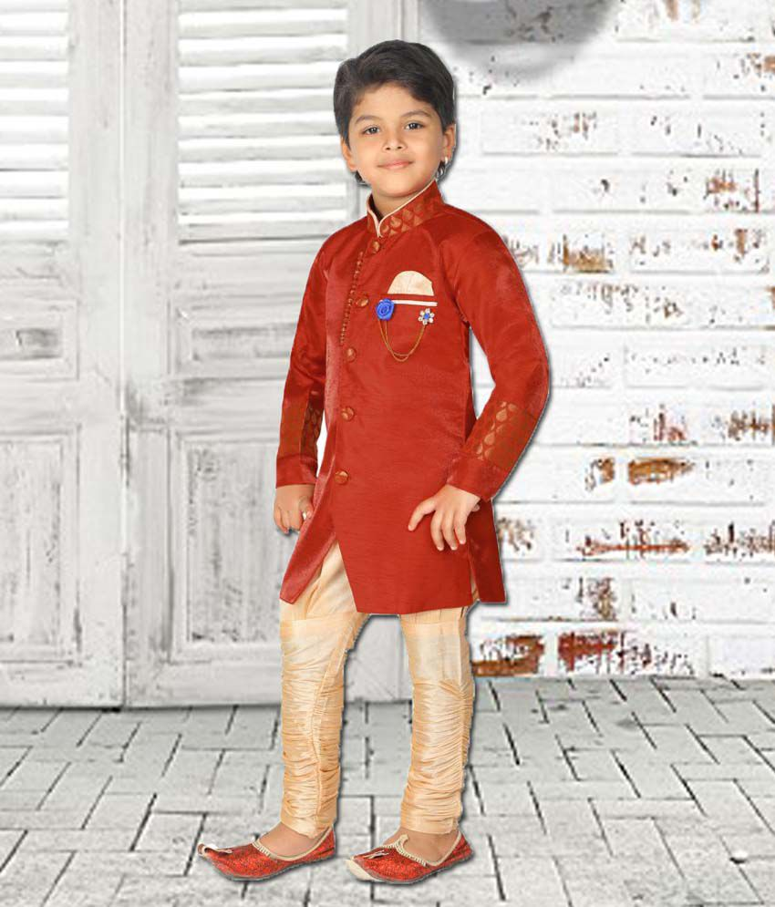 14f3f3f887 Ahhaaaa Kids Ethnic Wear Sherwani and Breaches Set For Boys - Buy Ahhaaaa Kids  Ethnic Wear Sherwani and Breaches Set For Boys Online at Low Price -  Snapdeal