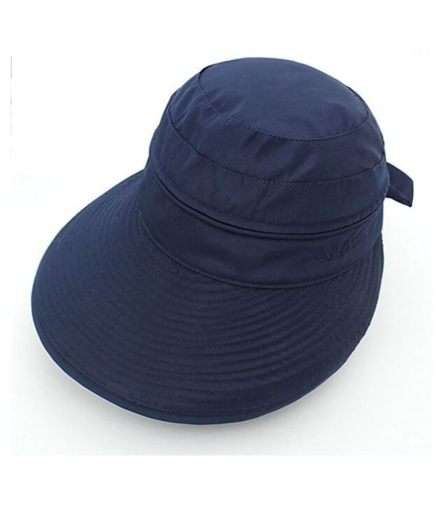 ef6779be481 Modo Vivendi Woman Summer Sun Hat   Visor Cap Brim Large Zipper Dual-Use  Sunscreen Hats: Buy Online at Low Price in India - Snapdeal