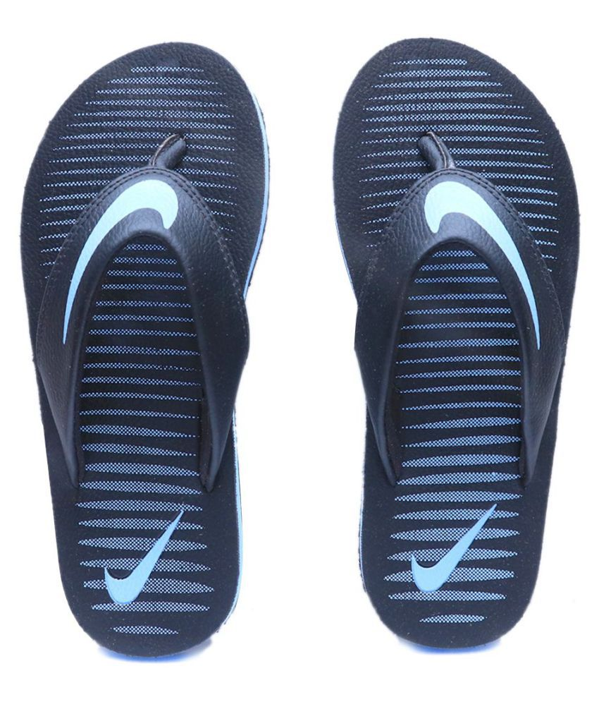 compare price authorized site best sell Nike Chroma Thong 5 Black Sky Blue Thong Flip Flop