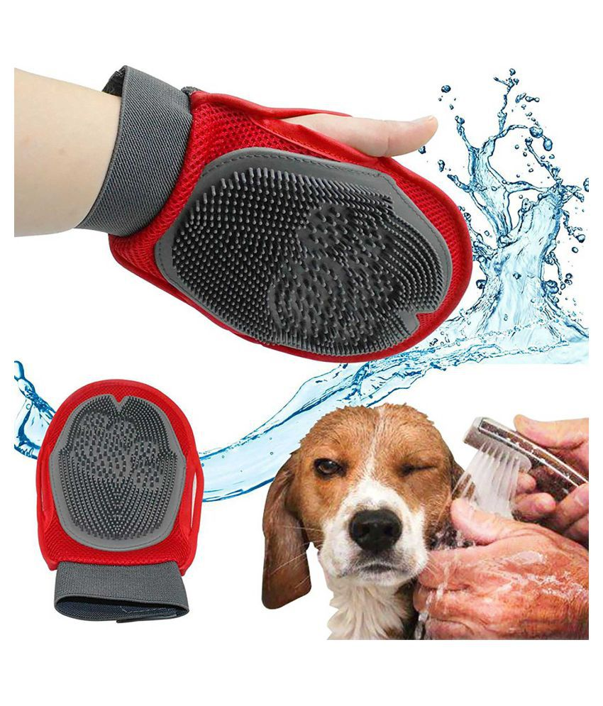 House Of Quirk Pets Grooming Mitt Nylon Mesh Brush, Pet Accessories