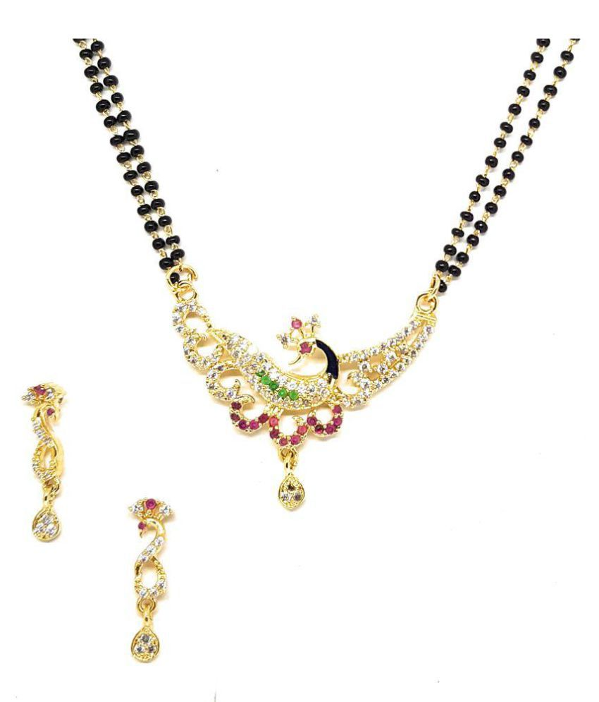 Maa Jewels AD Mangalsutra With Ear-Rings for Womens