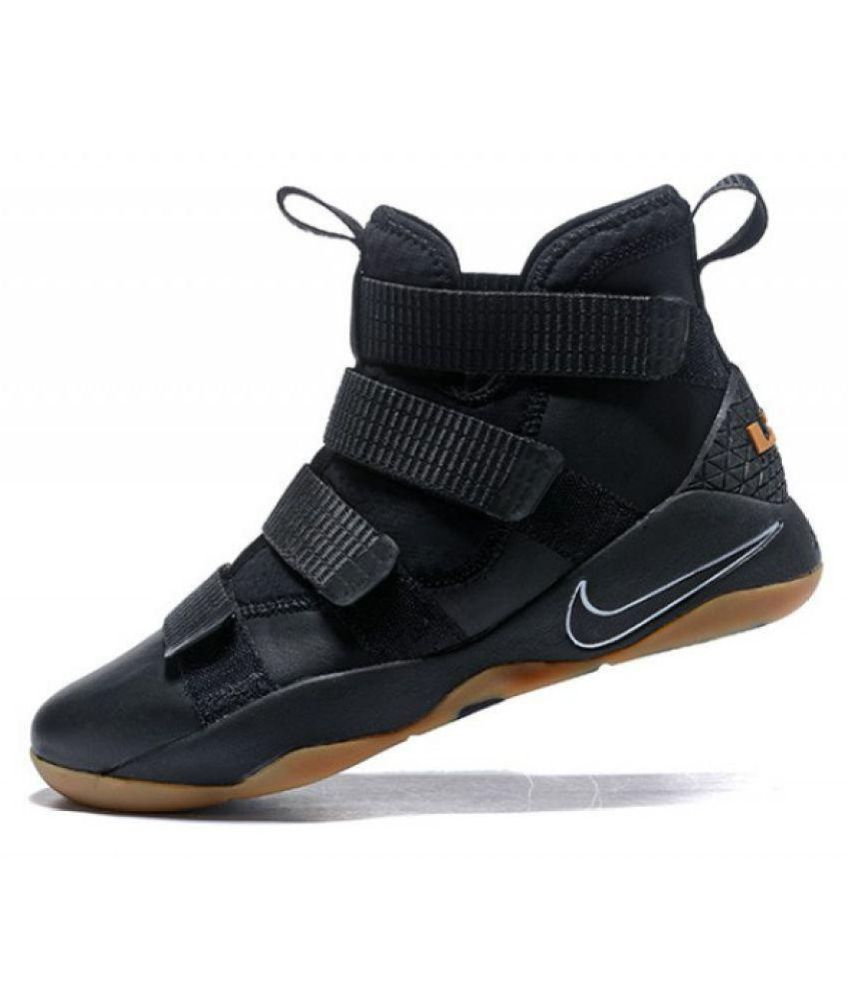 buy popular d184b a0635 Nike Lebron Soldier 11 X11 Gum Black Basketball Shoes