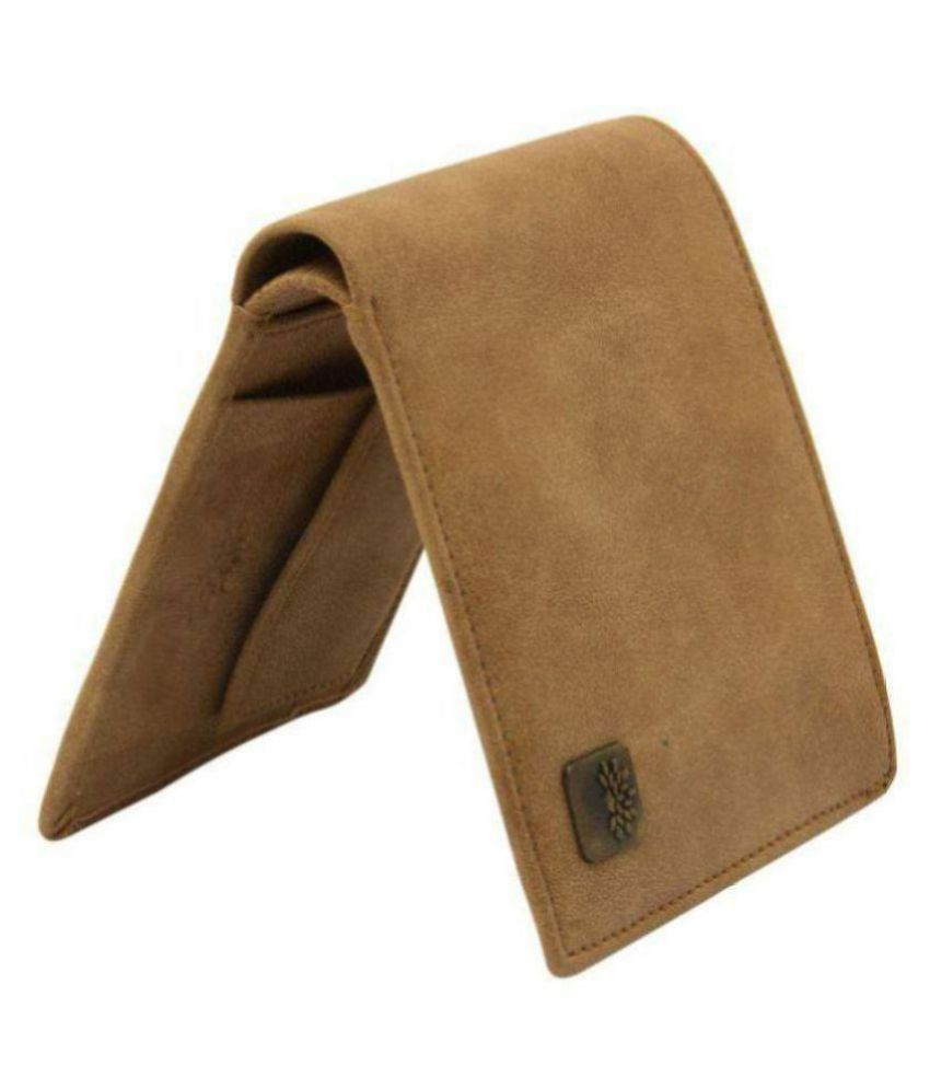 Woodland Imports Leather Tan Casual Short Wallet