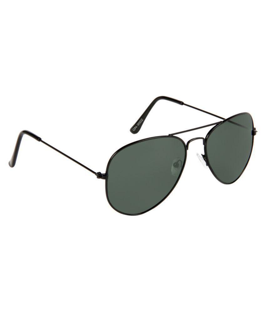 Gansta Green Aviator Sunglasses ( 3002-Blk-G15 )