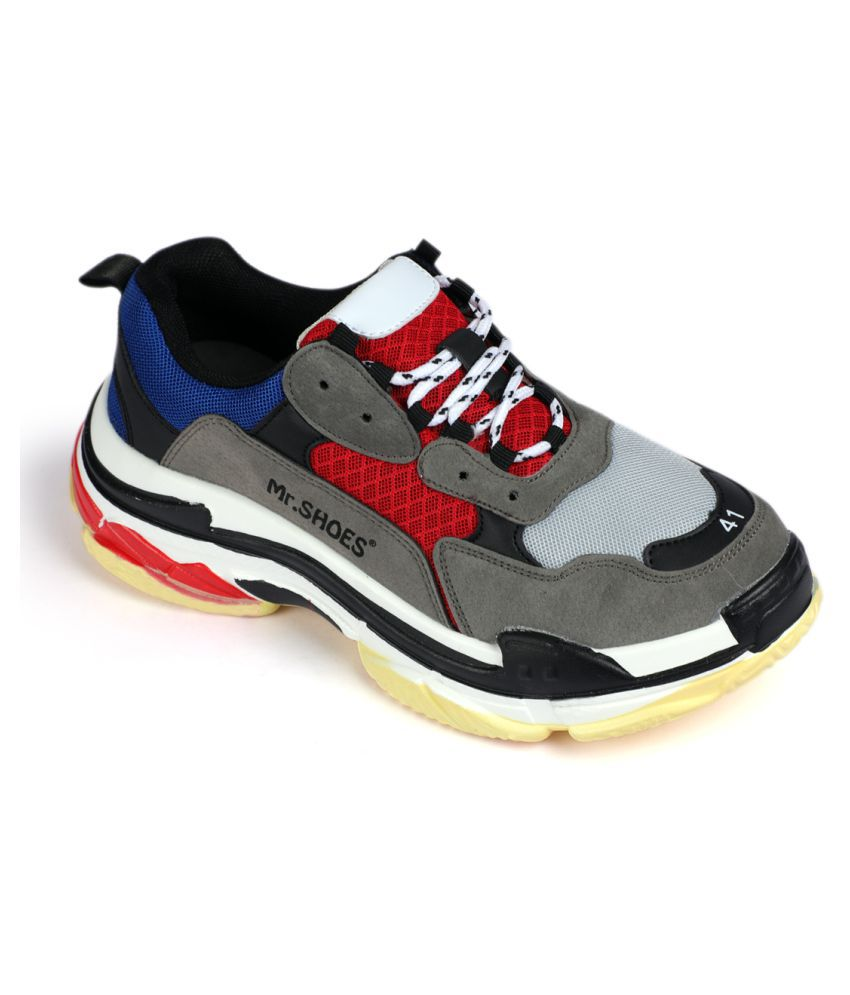 e6710eaeeba Mr Shoes 1826 2 D Blu Red 7 Triple S Uni Blue Running. Mr Shoes Casuals For Men  Black