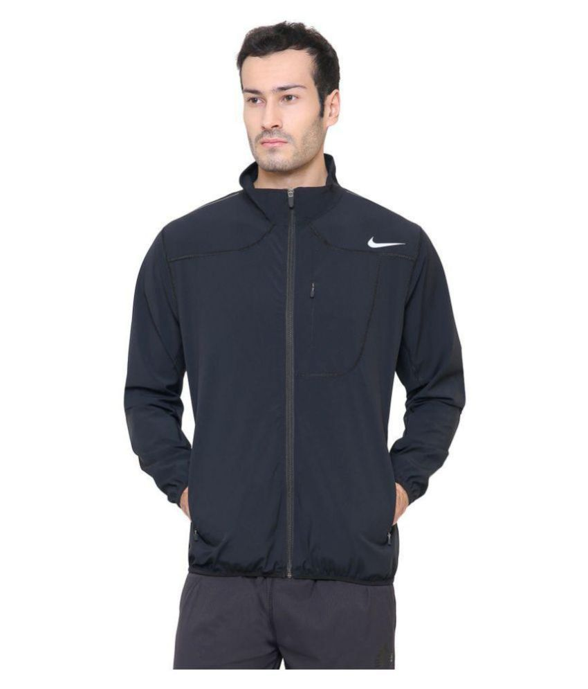 2369ac957f Nike Black Polyester Terry Jacket - Buy Nike Black Polyester Terry Jacket  Online at Low Price in India - Snapdeal