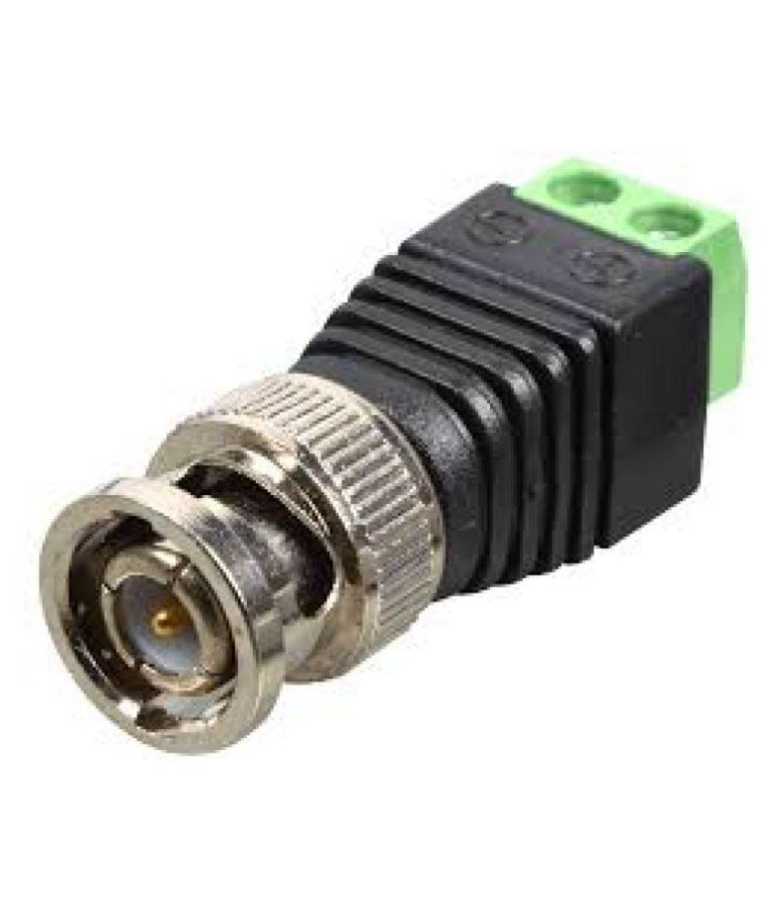 WECAM BNC Connectors Screw Type (Green) For CCTV Camera,( Pack Of 10Pcs. Connectors)