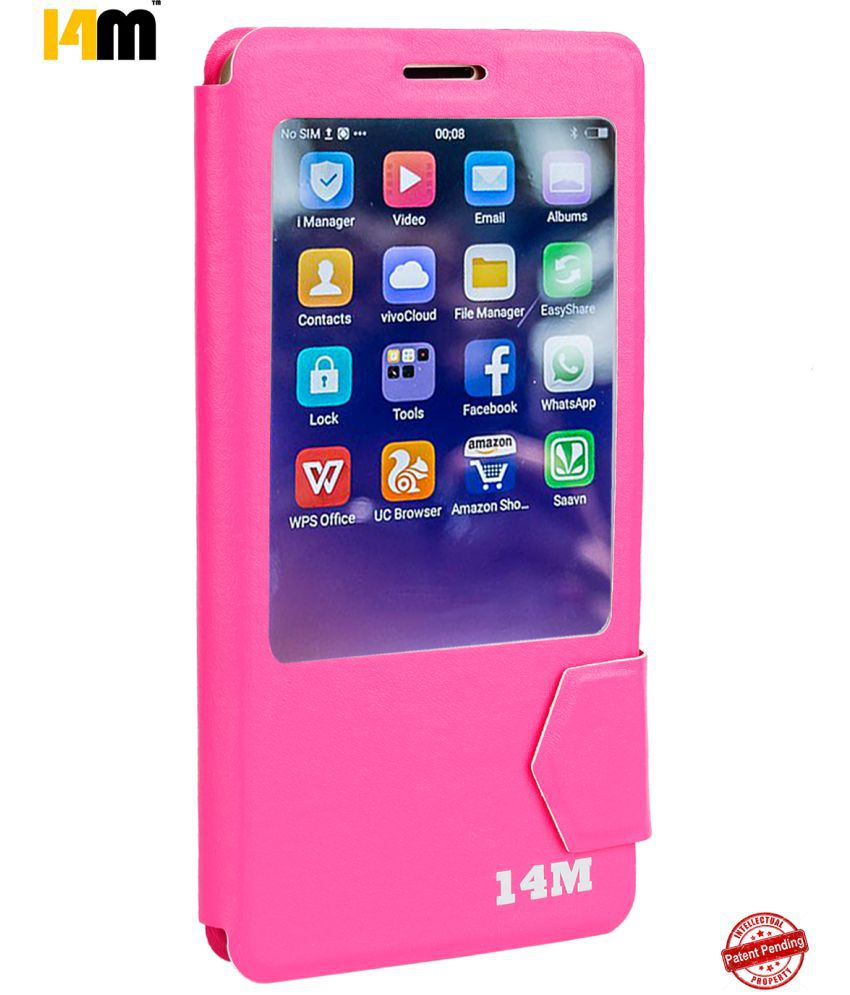 Zopo Speed 7 Flip Cover by 14M - Pink