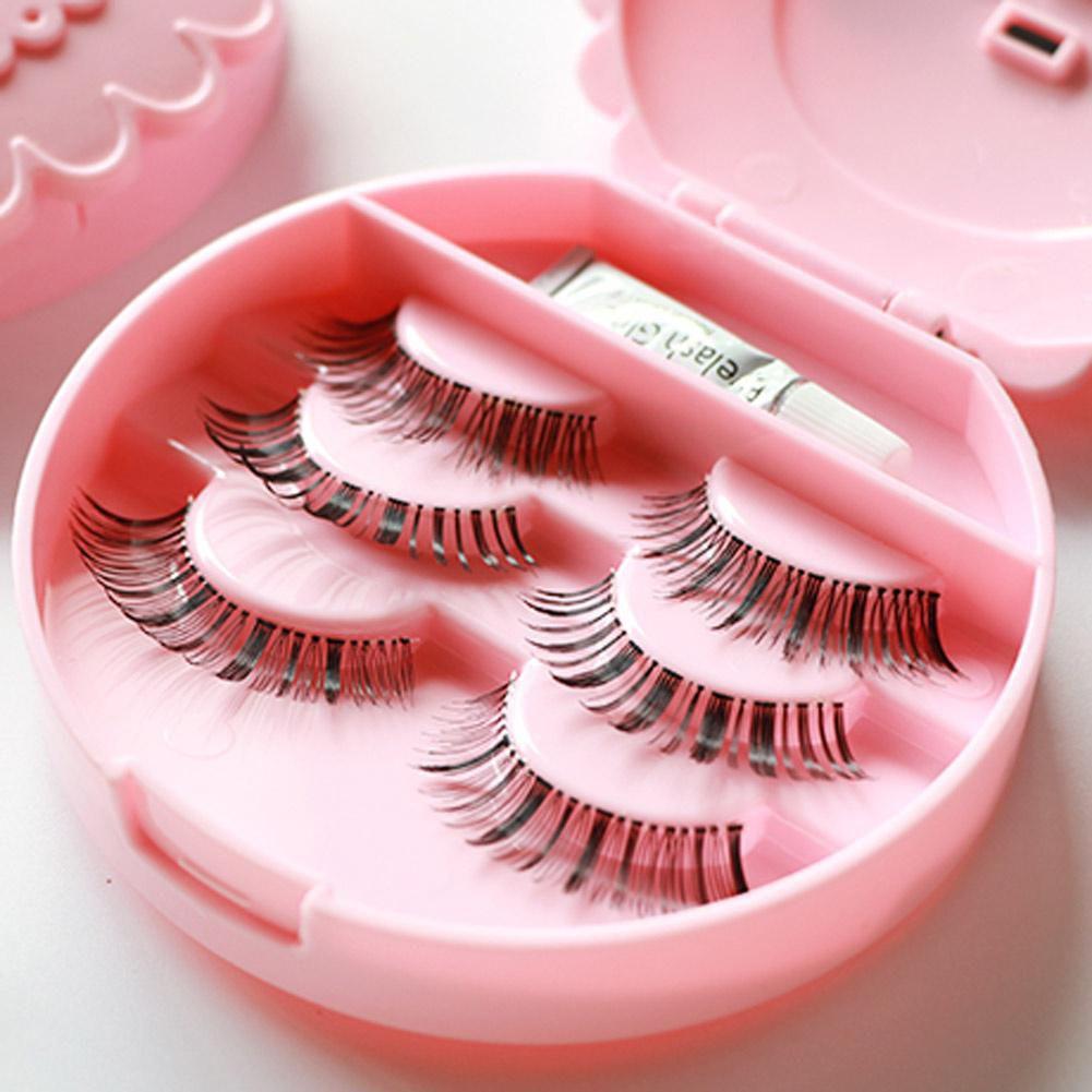 Buy False Make Up Cosmetic Eyelashes Storage Case Bow Makeup Plastic