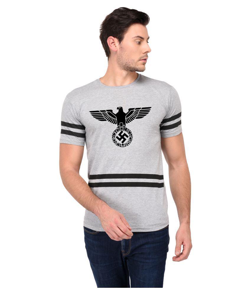 Trends Tower Grey Half Sleeve T-Shirt