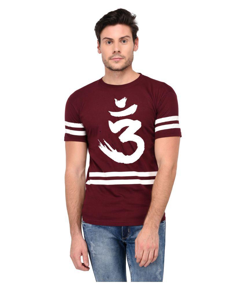 Trends Tower Maroon Half Sleeve T-Shirt