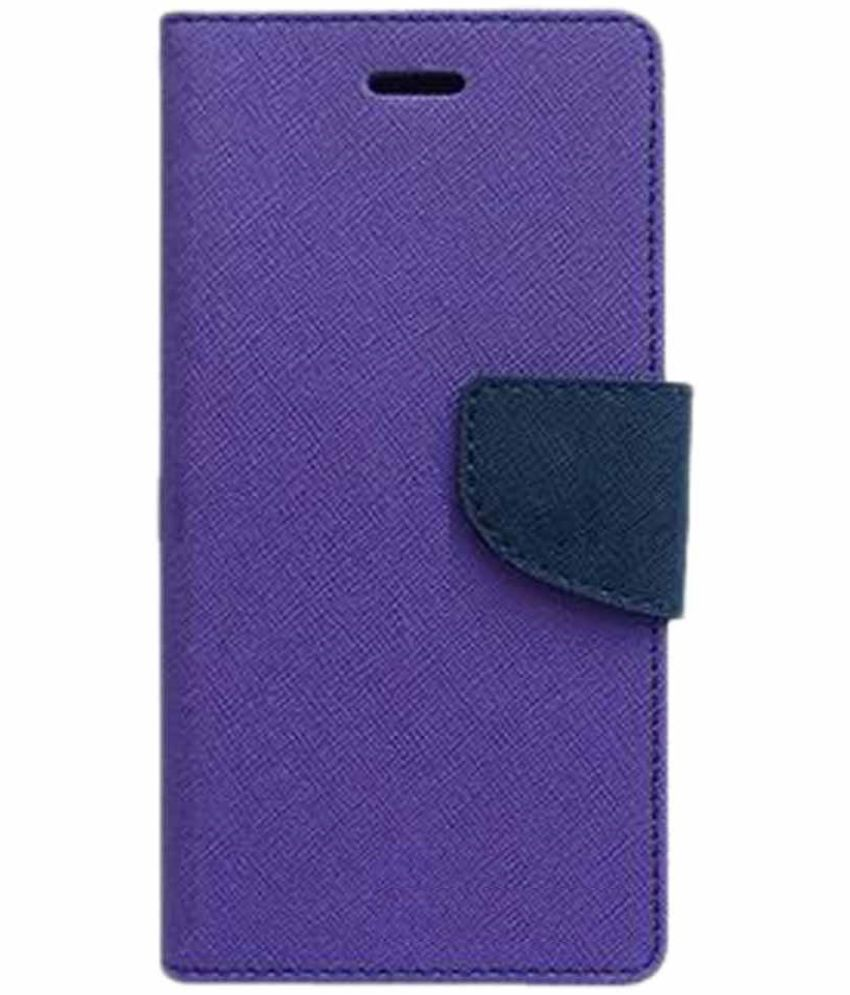 Sony Xperia C5 Flip Cover by Doyen Creations - Purple Premium Mercury