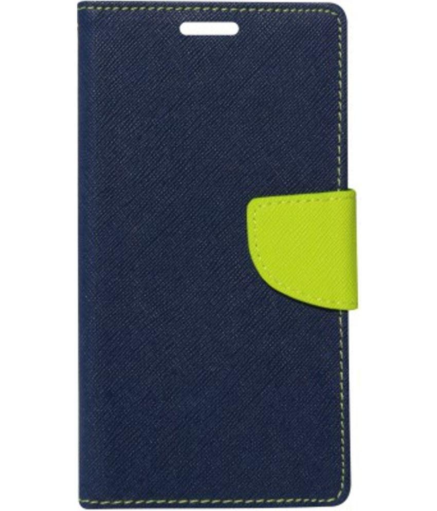 Sony Xperia M4 Flip Cover by Kosher Traders - Blue Premium Mercury