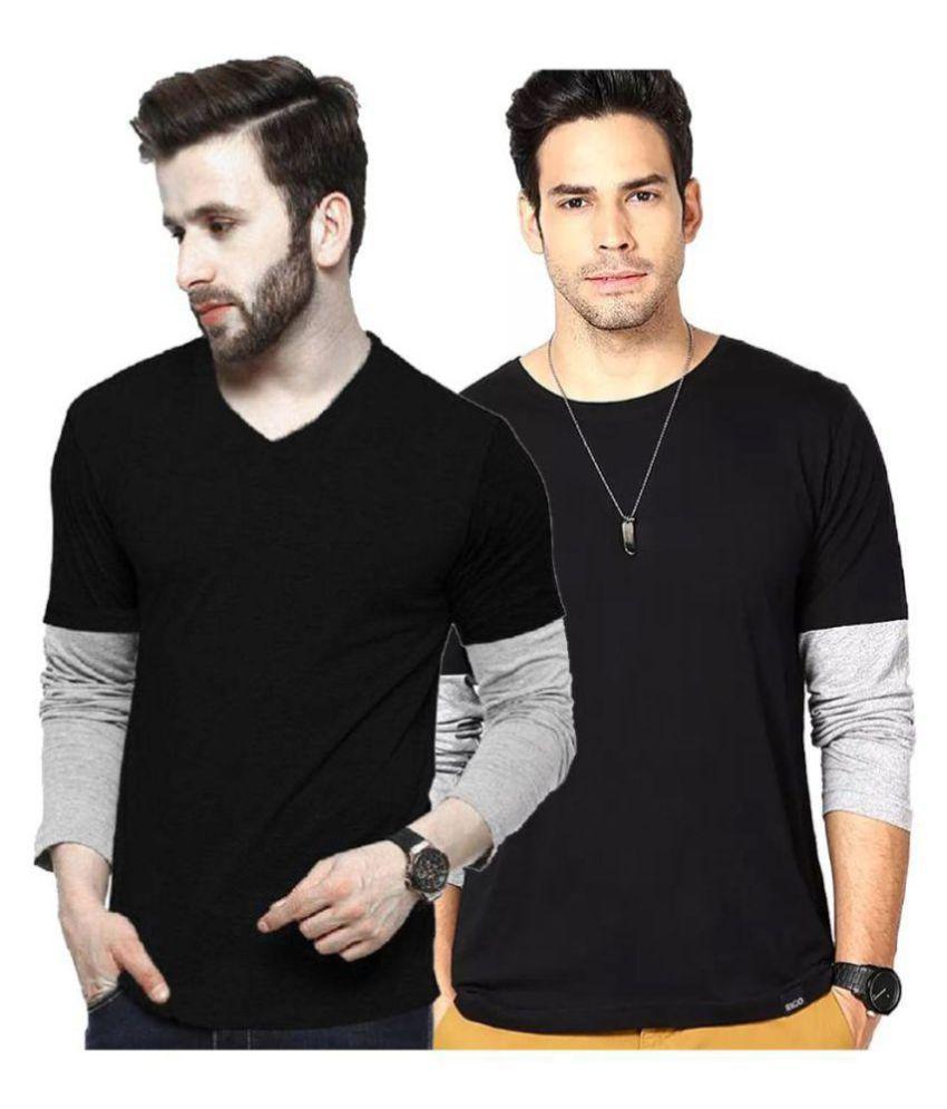 Lime Black Full Sleeve T-Shirt