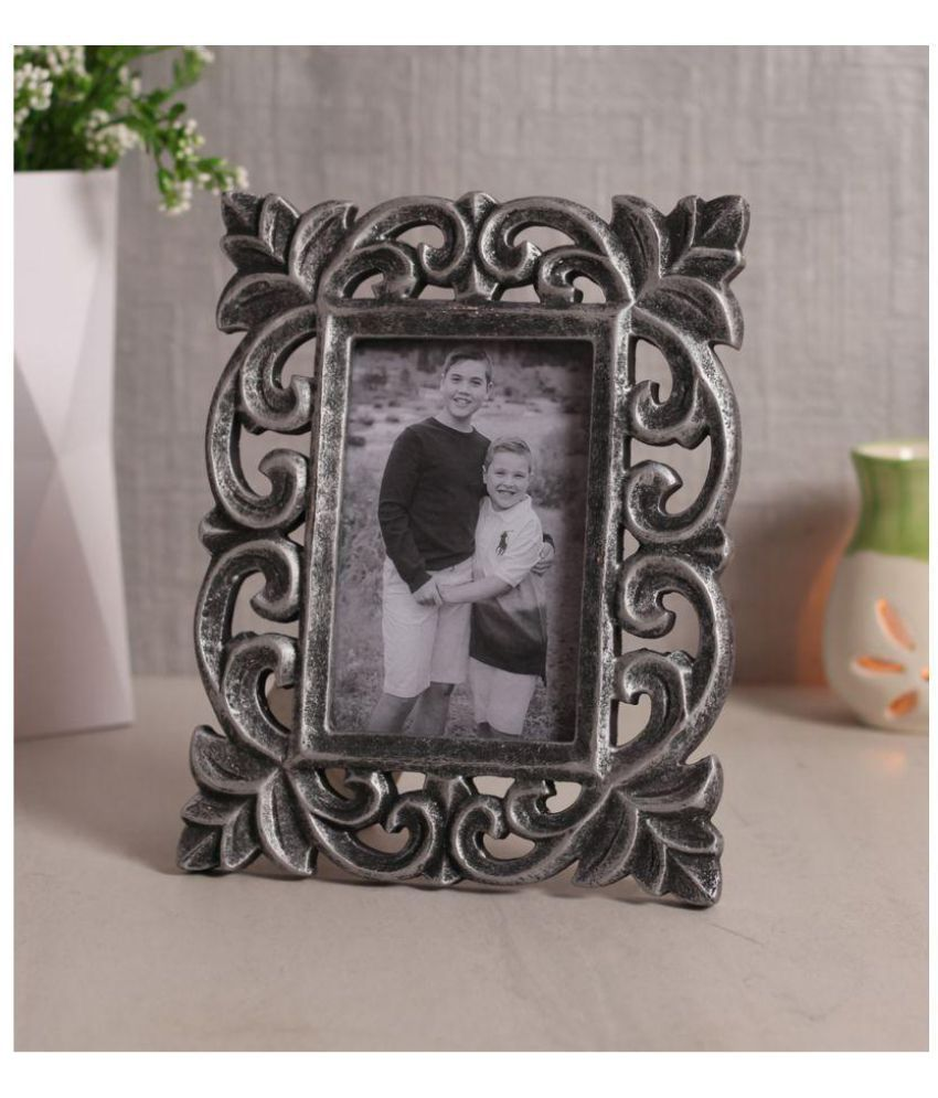 Yatha Wood Silver Single Photo Frame - Pack of 1