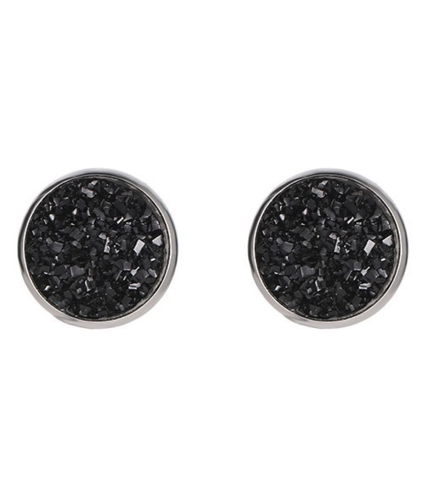 Levaso Fashion Jewelry Womens Earrings Ear Studs Geometric 1Pair Personality Gifts Black