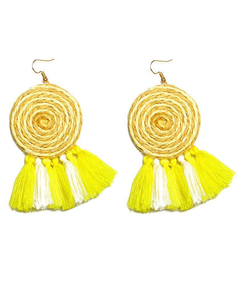 Levaso Fashion Jewelry Womens Earrings Ear Studs Fabric 1Pair Personality Gifts White