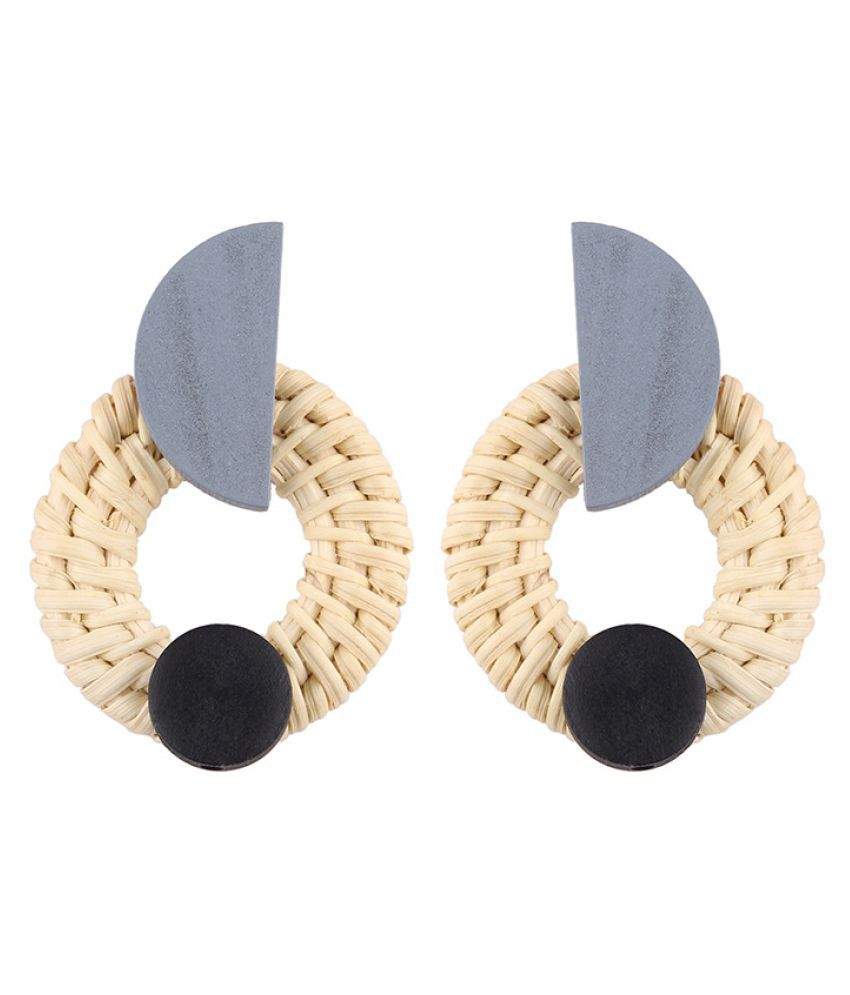 Levaso Fashion Jewelry Womens Earrings Ear Studs Wooden 1Pair Personality Gifts Brown